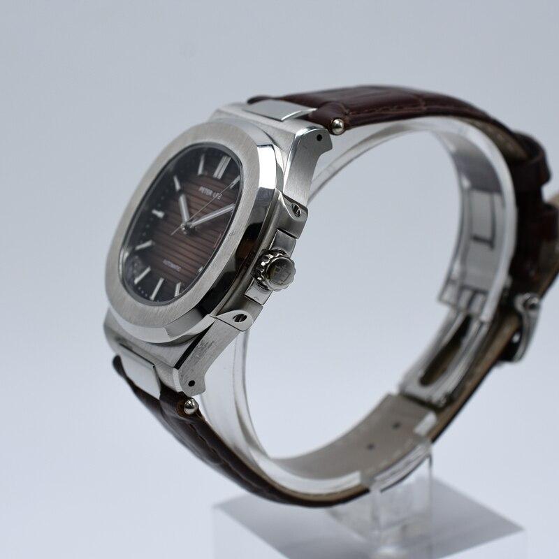 HTB16Y.LbeuSBuNjSsplq6ze8pXap PETER LEE Sport Classic Men Watch Top Brand Leather Straps Mechanical Watch Fashion Male Clocks Business Unisex Watches Gift