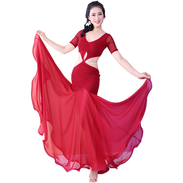 Bellydance oriental Belly Indian eastern baladi saidi swing robe dance dancing costumes clothes bra belt skirt dress wear 3641