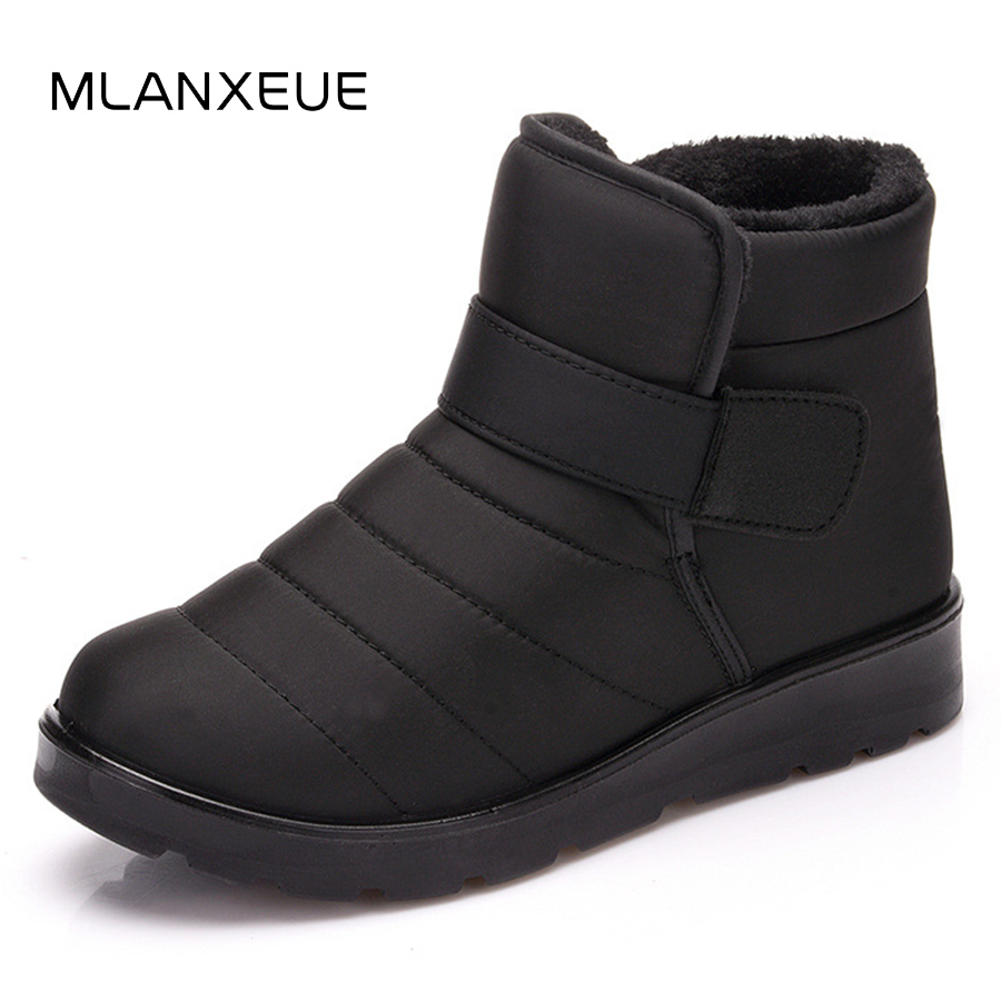 MLANXEUE Fashion Waterproof Lovers Snow Boots Non-slip Man Ankle Boots Shoes Men Add Cotton Male Short Boots Hight-cut Shoe 2018