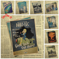 Fallout Series Classic Movie Kraft Paper Poster Cafe Creative wallpaper Interior Decoration Free Shipping