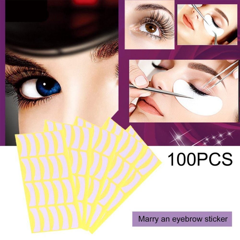 100Pcs Under Pads Stickers For Eye Lash Paper Patches Tips Sticker Wraps Individual False Eyelashes Extensions Makeup Tool 2019