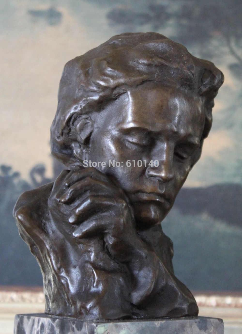 ZSR Beethoven Música Professor de Piano Pianista Compositor Músico Bronze Estátua de Mármore Arte