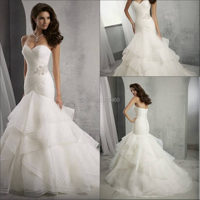 mermaid trumpet wedding dress gorgeous mermaid trumpet wedding dresses 2015 cheap 5838
