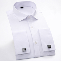 Male French Cufflinks Shirt 2015 New Men S Shirt Long Sleeve Casual Men Shirts Slim Fit