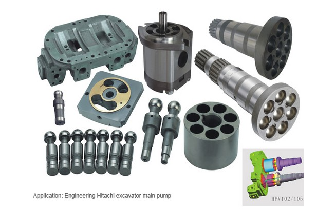 Repair kit HITACHI excavator main pump HPV050 spare parts cylinder block pump parts