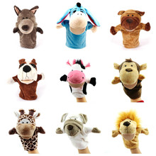 New Arrvial Shaun Sheep Animal Hand Puppets Baby Loves Doll Parent-child Games Toys Orangutans Monkey Hippo Tiger