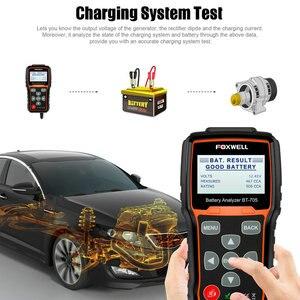 Image 3 - Foxwell BT705 12V 24V Car Battery Tester System Diagnostic Analyzer Tool Regular Flooded AGM GEL Type Car Truck Battery Analyzer