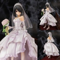 NEW hot 23cm Wedding dress Tokisaki Kurumi DATE A LIVE Action figure toys doll collection Christmas gift with box