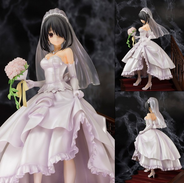 NEW hot 23cm Wedding dress Tokisaki Kurumi DATE A LIVE Action figure toys doll collection Christmas gift with box new hot 13cm the night hunter vayne action figure toys collection doll christmas gift no box