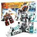 668 шт. Бела 10296 Сэр Fangar Лед Крепость игрушки строительные для детей brinquedos Фильм Совместим с Lego