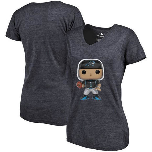 detailed look 29f4b c692a New Style Women's Summer T Shirt, Panthers Fans Carolina 1 Cam Newton  Cartoon Figure Picture Printing Classical V neck T Shirt-in T-Shirts from  ...