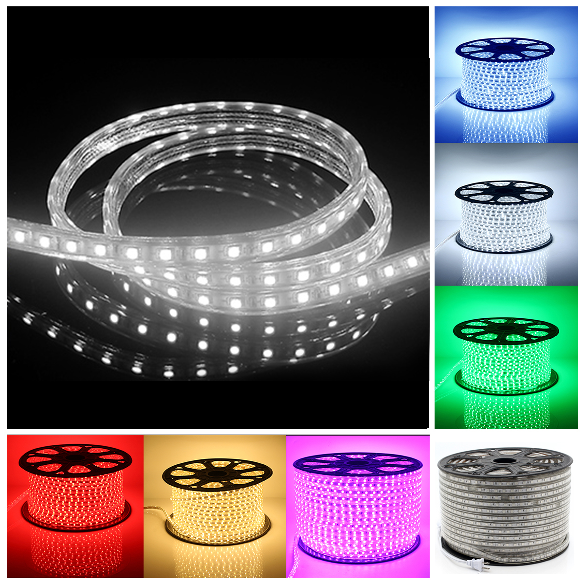 220V LED Strip Light IP67 Waterproof 30M 60 LEDs/ meter Ultra Bright Flexible 5050 SMD LED Outdoor Garden Home Strip Rope Light uf4007 4007 dip 1a1000v