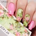 1 hoja de pegatinas de transferencia de agua calcomanías de uñas elegante floral flores nail art sticker calcomanías tatuaje xf1420