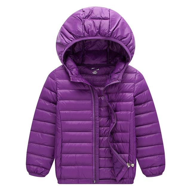Sping crianças jaqueta de pato para baixo casacos sobretudos luz das várias cores com capuz outerwear bebê menino meninas roupas snowsuit