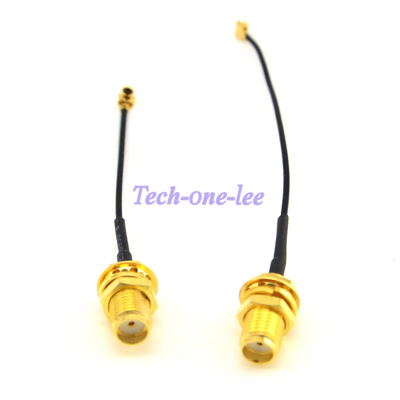 2 Piece Mini PCI U.FL To SMA Connector Antenna WiFi Pigtail Cable IPX To SMA Extension