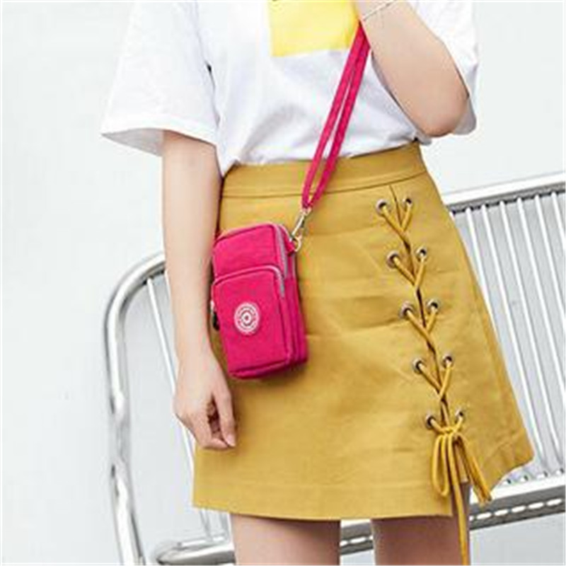 Ladies Cross-body Mobile Phone Bags Womens Fashion Shoulder Bag Pouch Case Belt Handbag Purse Wallet Message Bags New 2019