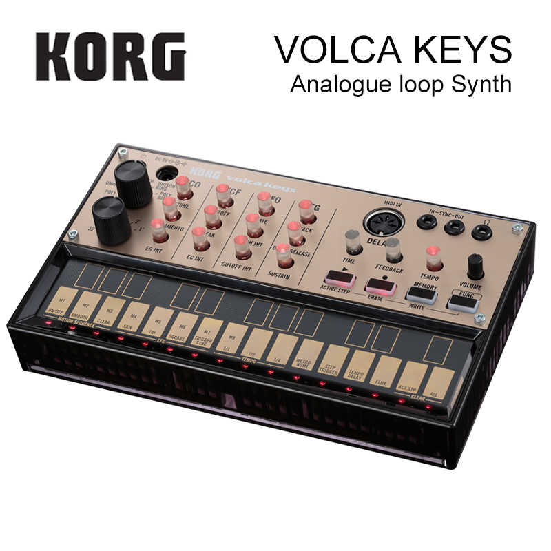 Korg Volca Keys Analog Synthesizer Polyphonic Analog Sound Engine and Loop  Sequencer Introductory Synthesizer