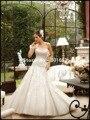 Nuevo estilo Tight Hip sirena apliques con cuentas vestidos de boda