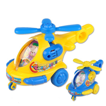 Baby Favorite Gift Cartoon Animal Wind Up Toys Helicopter Clockwork Classic Toy