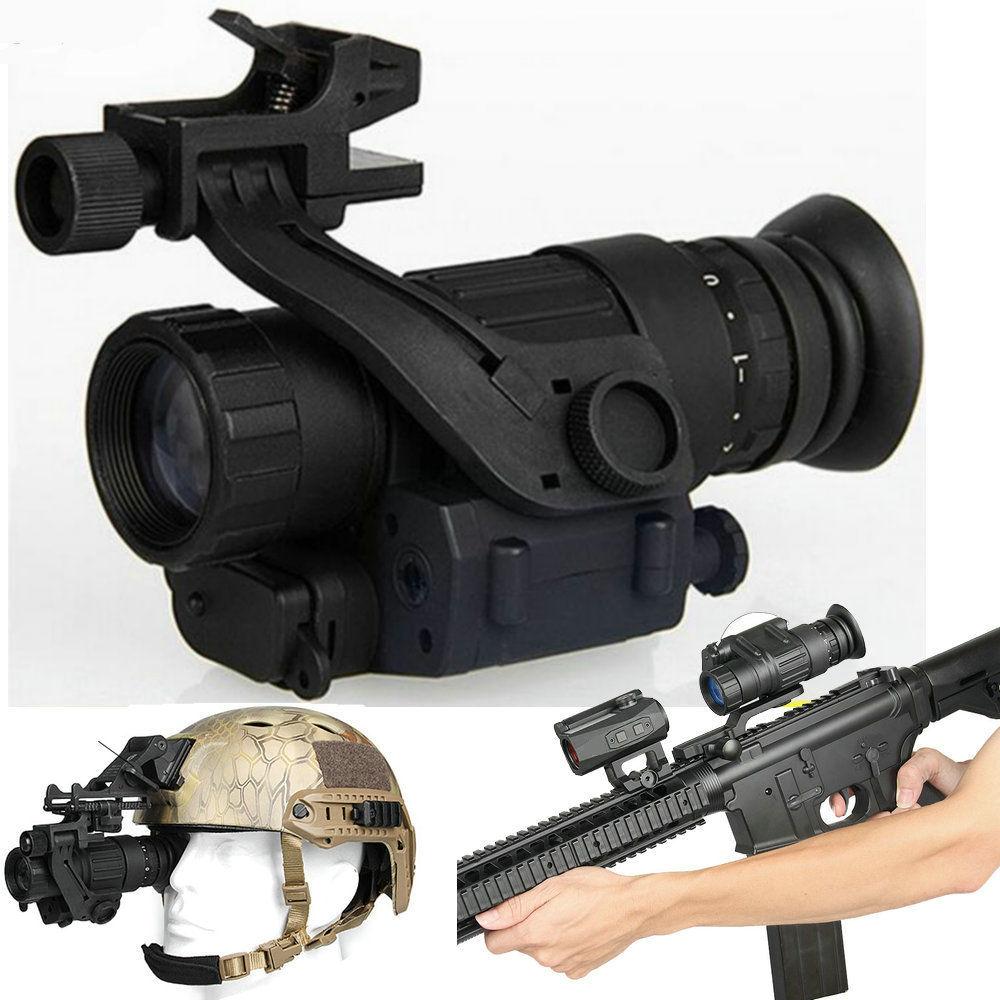 Dispositivo de Visão noturna Monocular Riflescope PVS-14 Óculos de Visão Noturna Telescópio Digital IR Caça Trilha para Rifle Scopes Capacete