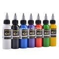 3 unids/lote Hao Profesional Del Tatuaje de Suministro de Tinta Del Tatuaje 2 OZ 60 ml/bottle Pigmento Superior para Body Art Tattoo Kits de Suministros 7 Colores u-pick