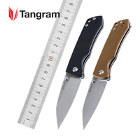 TANGRAM Folding Knife Survival Pocket Knife Tactical Japan Acuto440C Every Day Carry EDC Handle Material G10 AZO Santa Fe TG3002