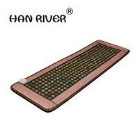 2016 High Sale Infrared Heated Tourmaline/Germanium Stone Massage Mat Korea Mattress Heating Massage Korea Tourmaline Mat