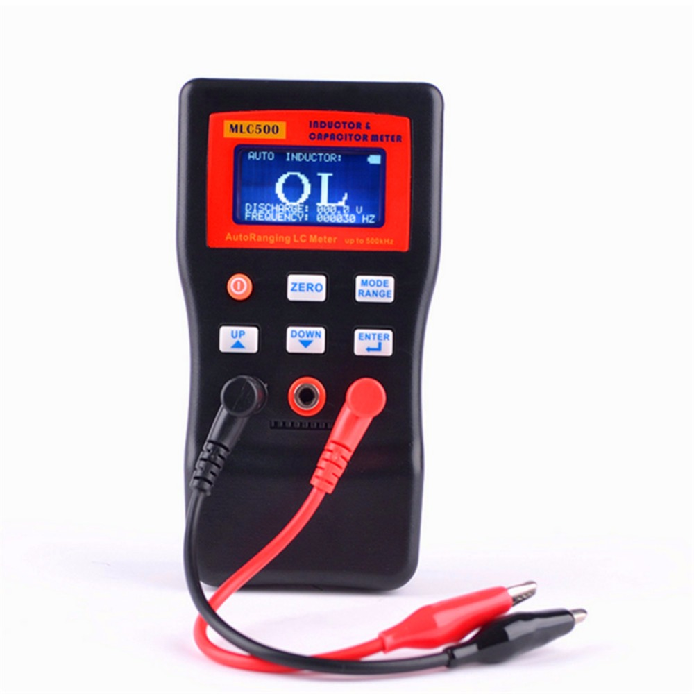 New MLC-500 High Precision Auto Ranging LC Meter Professional Capacitance Inductance Table 500 KHz Capacitance Meter lc100 a fully functional inductance capacitance meter inductance meter capacitance meter lc meter