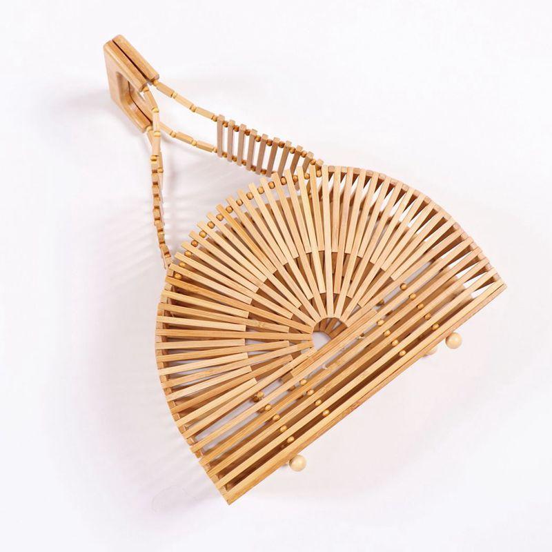 Very cute lovely design  Bamboo bag semi-circular handbag  a5359Very cute lovely design  Bamboo bag semi-circular handbag  a5359