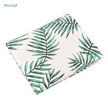 DwaIng liście wzór tkanina bawełniana pościel dla DIY, szycia, Quiltin, sofa obrus meble pokrywa materiał poduszki pół metra