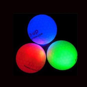 Promotion Custom Logo 50pcs LED Constant Shining Golf Ball  Luminous Glowing Balls several colors available