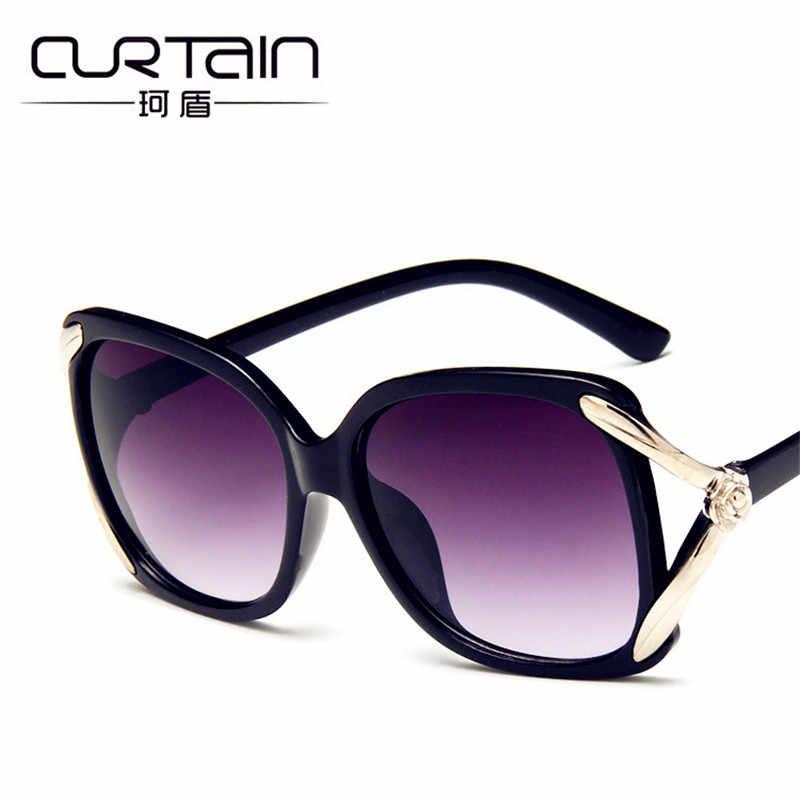 09bdabb194 ... CURTAIN Lunette de Soleil Vintage 2019 New Trend Polarized Sunglasses  Hollow Rose Fashion Big Frame to ...