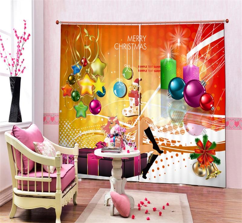 Современная роскошь Рождественский подарок 3D плотные шторы на окне для постельных принадлежностей Гостиная Home настенные декоративные hotel шторы Cortina - 2