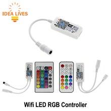 Wi-Fi RGB LED контроллер мини DC12V с РФ 21Key/ir 24Key пульт дистанционного управления для RGB Светодиодные полосы света