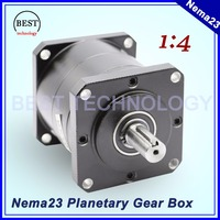 Nema23 Motor Planetary Reduction Ratio 1:4 planet gearbox 57mm motor speed reducer Planetary Gearbox high quality !!