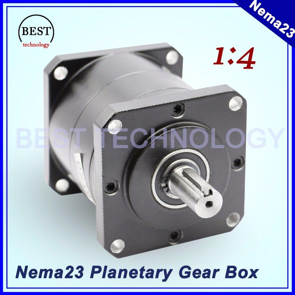 Nema23 moteur réducteur planétaire 1:4 planet réducteur 57mm moteur réducteur de vitesse réducteur planétaire de haute qualité!!