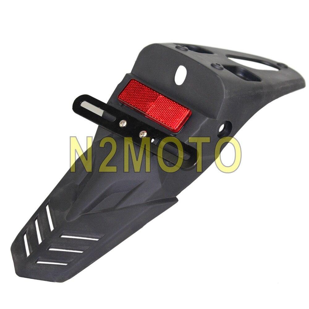 Negro de la motocicleta guardabarros trasero rojo Reflector soporte ...