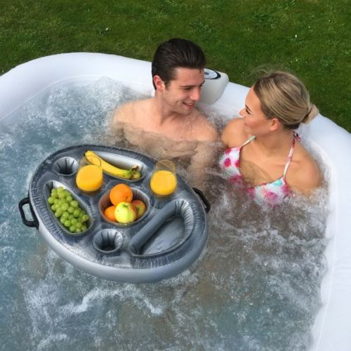 Spa Pool Hot Tub Drink Tray Pool Inflatable Floating Food Shelf