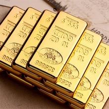 Luxury Compact Jet Gas Lighter Inflated Butane Bullion Oil Lighter Grinding Wheel Bar Gold Brick Metal NO GAS