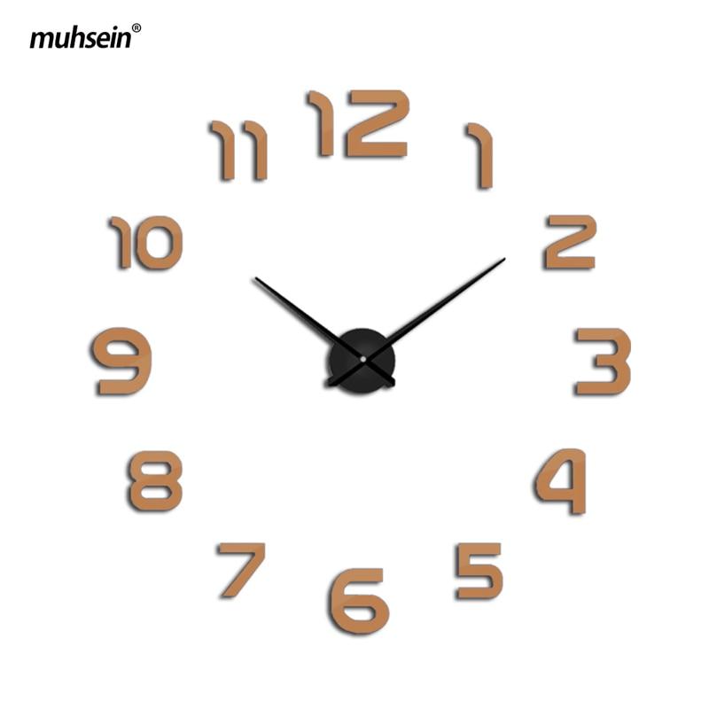 2019 muhsein Clock Watch Պատի Ժամացույցներ Horloge 3D - Տնային դեկոր - Լուսանկար 6