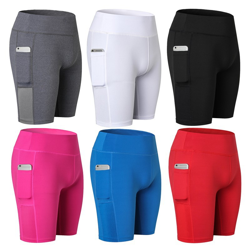 Cycling Womens Shorts Quick Dry Sports Shorts Gym Workout Yoga Running Fitness Athletic  compression high quality shorts(China)