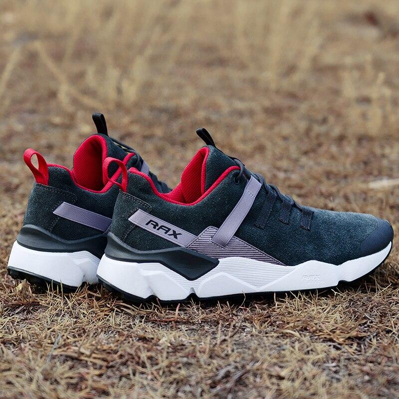 RAX 2017 Novos Homens sapatos de Couro da Camurça Amortecimento Tênis Para Caminhada Respirável Sapatos Ao Ar Livre Caminhadas Mochila de Viagem À Prova D' Água Para Os Homens