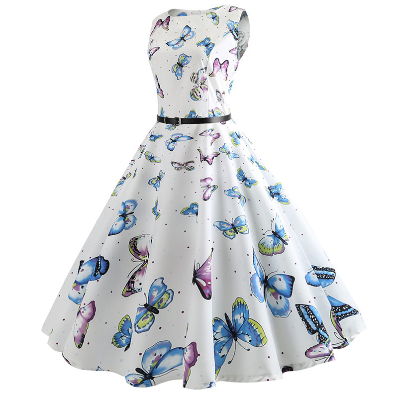Blue Vintage Swing Dress 61