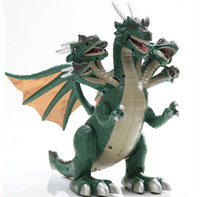 Boy Love Dinosaur With 7 Head ChildrenToys Simulation Model electric Plastic Big Dinosaur Model toy