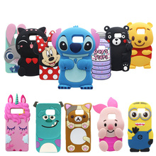 For Samsung Galaxy Note3 Note4 Note5 3D Cartoon Cute Soft Silicone Case Back Cover Skin Note 3/4/5