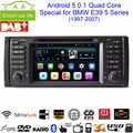 "Android 5.0.1 Quad Core GPS Navigation 7"" Car DVD Player for BMW E39 1997-2007 with Bluetooth/RDS/Radio/SWC/USB/SD/3G/Canbus"