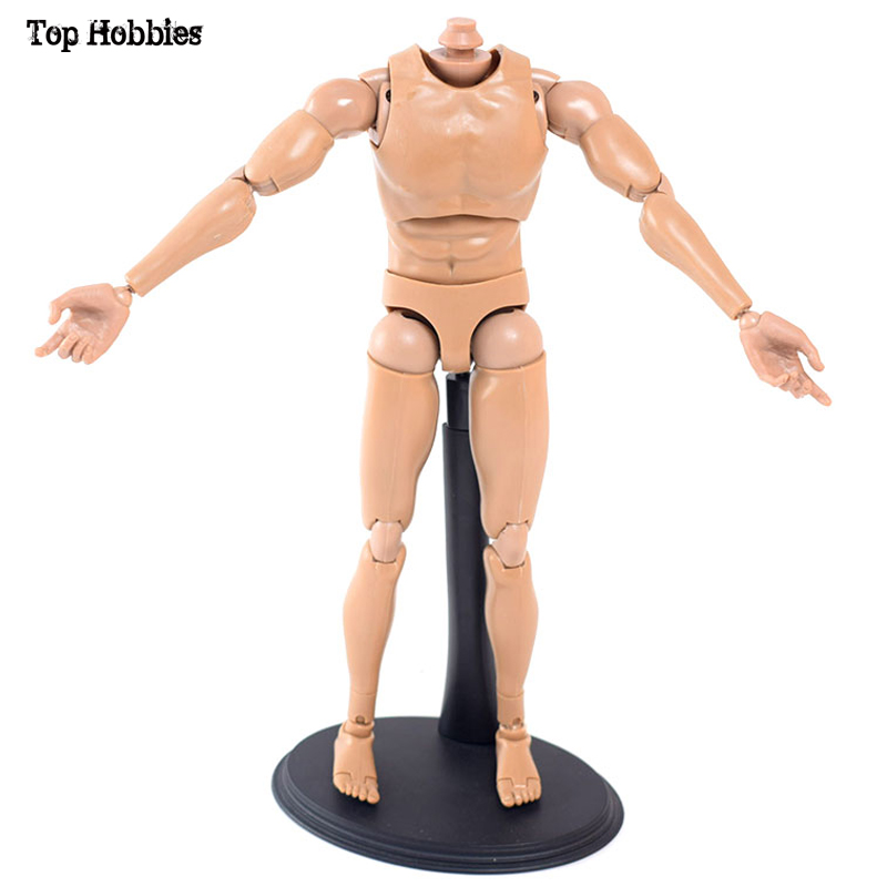 1/6 Scale Man / Man Figur V8 Gemensam rörelse Doll Body Nude Fit 12-tums Phicen Super-Flexibel Action Figur nr Huvud 26cm Höjd