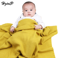 Hzirip High Quality Candy Color Infant Woolen Blanket Children 100 Acrylic Knitted Baby Blanket For Boys
