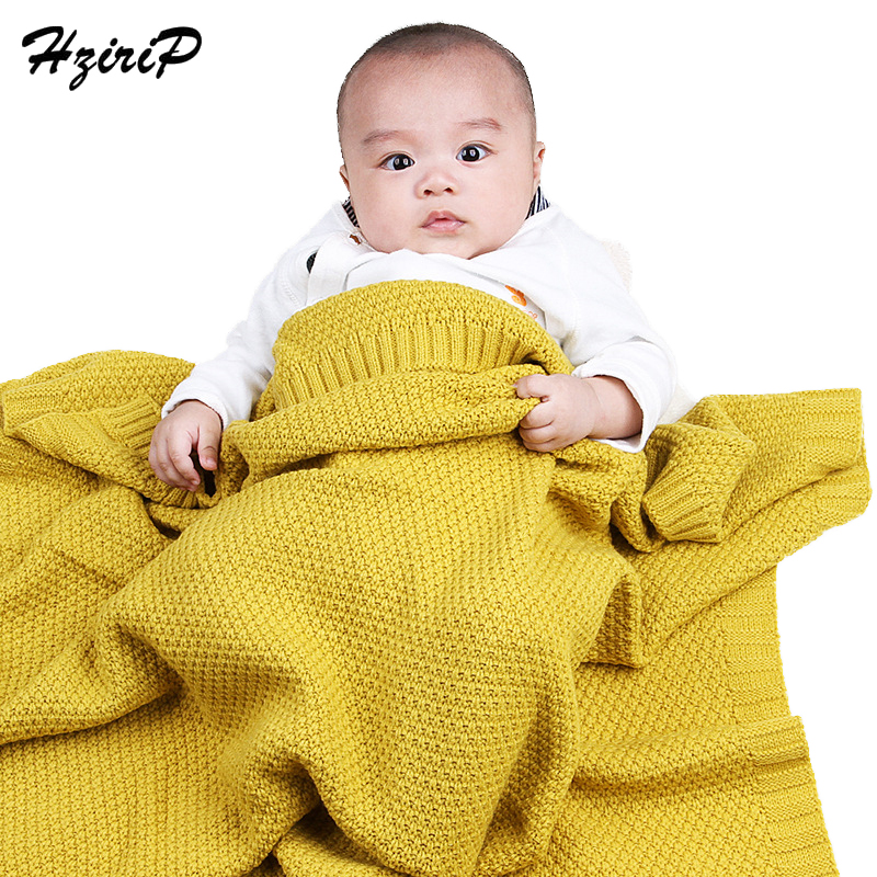 Hzirip High Quality Candy Color Infant Woolen Blanket Children 100% Acrylic Knitted Baby Blanket For Boys Girls Kids 100*80 CM chic quality casual style solid color cotton pattern knitted blanket