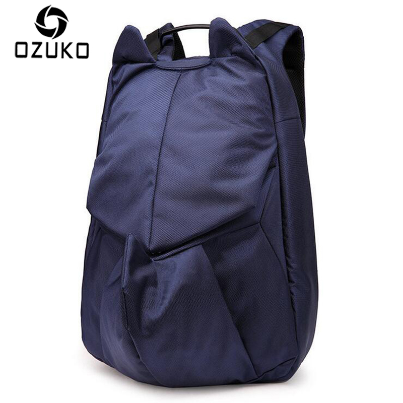 OZUKO Brand New Design Men Backpacks Laptop Backpack Creative Student School Bags For Teenager Fashion Male Women Casual Mochila 2016 new sports men and women backpacks fashion men s backpack unsix men shoulder bag brand design ladies school backpack